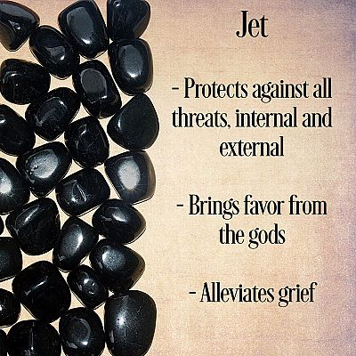 Jet Tumbled Gemstones - CRY-JET picture