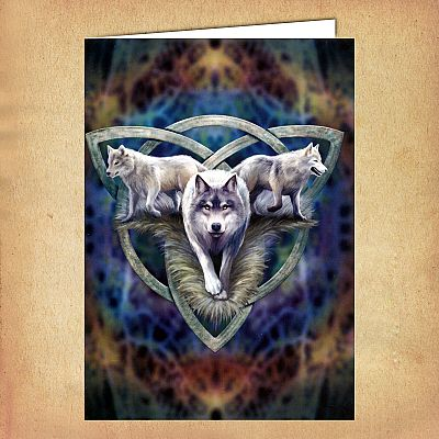 Wolf Trio Greeting Card - CRD-AN93 picture