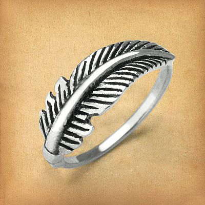 Silver Feather Ring - RSS-2965
