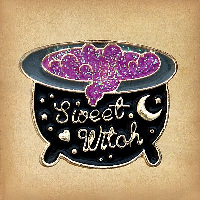 """Sweet Witch"" Cauldron Enamel Pin - PIN-028"