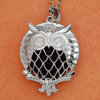 Owl Aromatherapy Locket - Silver Tone - PBM-AT2-S