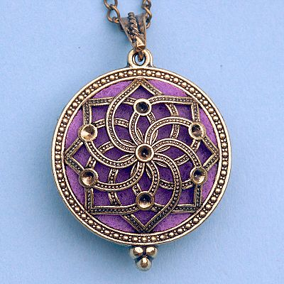 Spiral Star Aromatherapy Locket - Bronze Tone - PBM-AT3-B