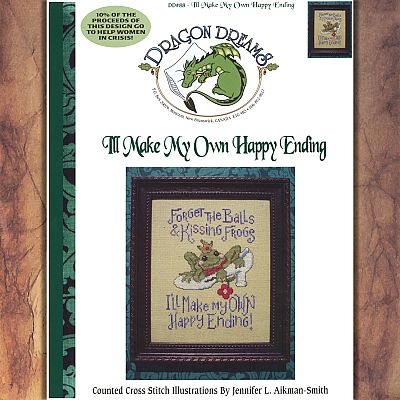 """I'll Make My Own Happy Ending"" Cross Stitch Pattern - SDD-088 picture"