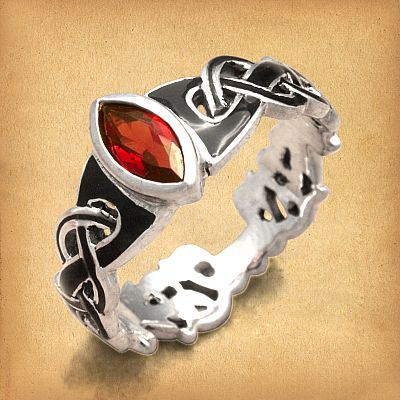 Silver Celtic Fire Ring - RSS-159
