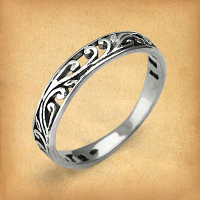 Silver Vine Ring - RSS-2385