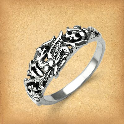 Silver Fairy Dragon Ring - RSS-605