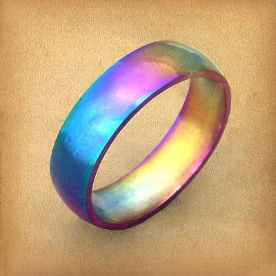 Rainbow Stainless Steel Ring - RST-A206