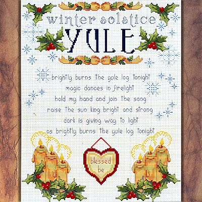 Wheel of the Year Series: Yule Cross Stitch Pattern - SIA-725