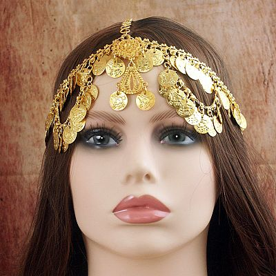 Gold Coin Fantasy Headpiece - TIK-142-G picture