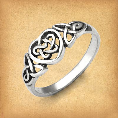 Silver Celtic Heart Ring - RSS-2554