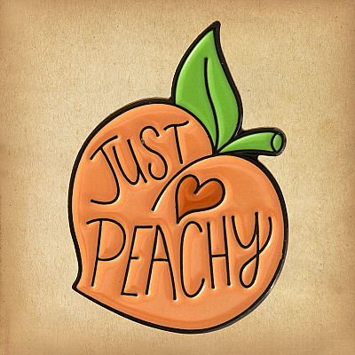 """Just Peachy"" Enamel Pin - PIN-102"