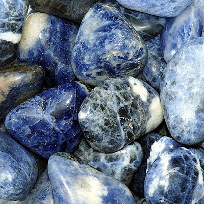 Sodalite Tumbled Gemstones - CRY-SOD