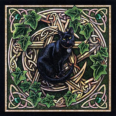 Cat Pentagram Cross Stitch Pattern - SHP-055