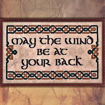 """May the Wind Be at Your Back"" Cross Stitch Pattern - SWW-462"