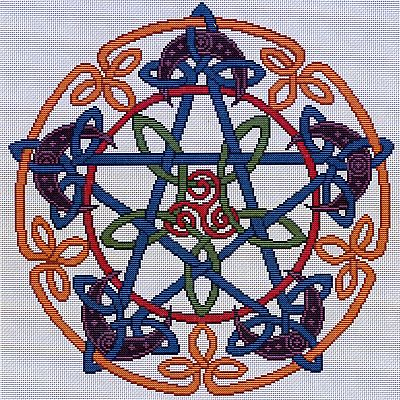 Celtic Pentacle Moon Cross Stitch Pattern - SIA-005