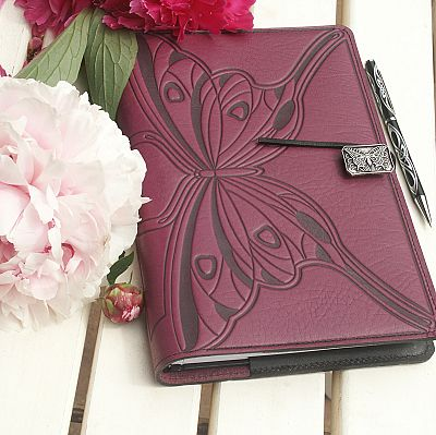 Large Butterfly Leather Journal - LLJ-M46 picture