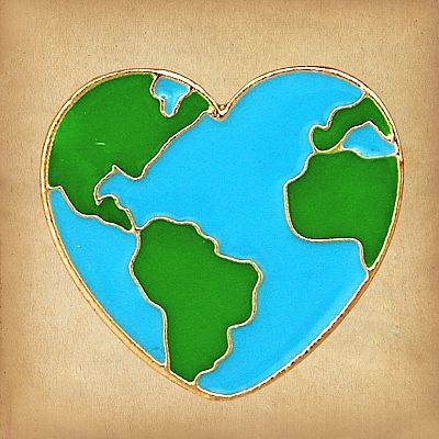 Earth Heart Enamel Pin - PIN-066