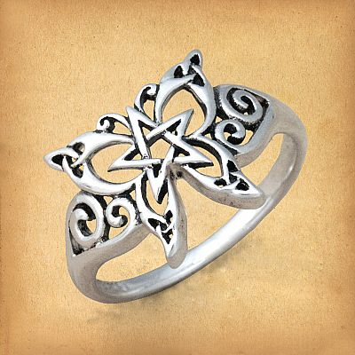 Silver Celtic Butterfly Ring - RSS-337