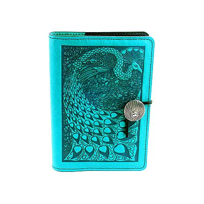 Small Peacock Leather Journal - LSJ-M48