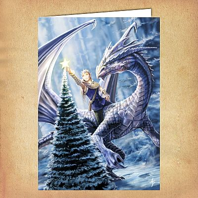 Winter Fantasy Yule Card - CRD-AN13 picture