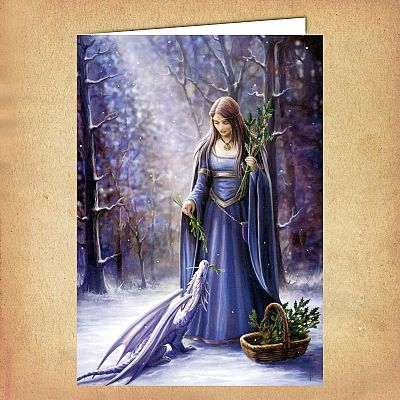 Solstice Gathering Yule Card - CRD-AN41 picture