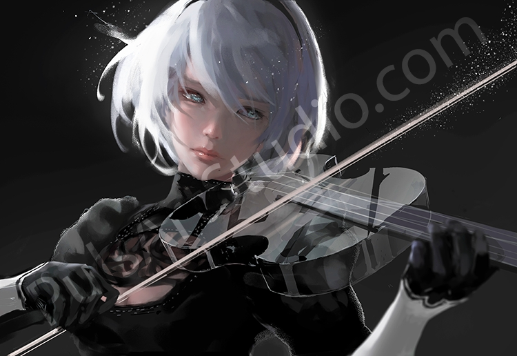 "2B ""Sound of Silence"" Poster"