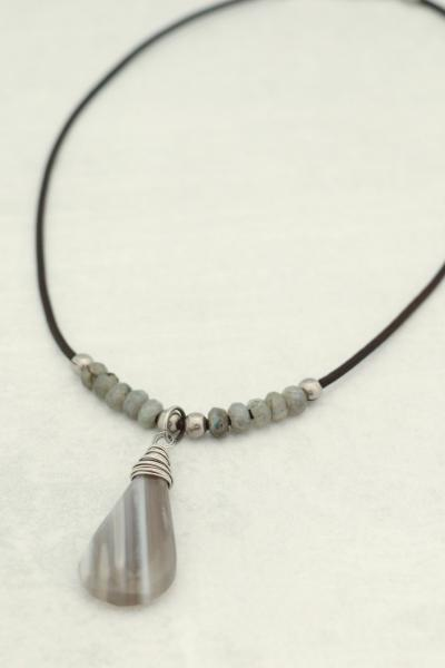 Stunning Wire Wraped Boulder Opal Necklace