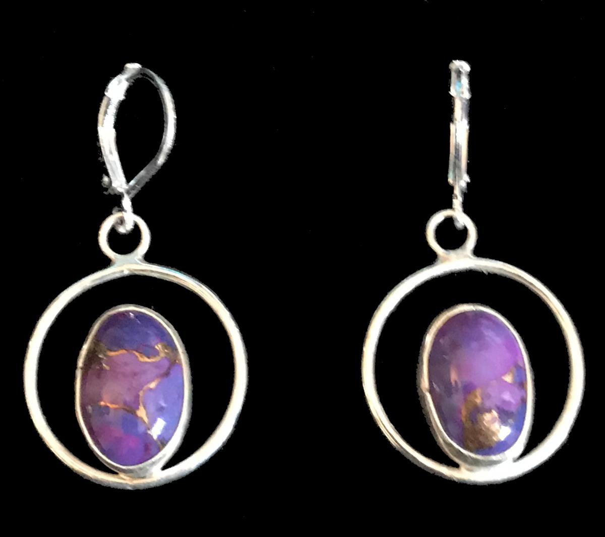 Mojave Purple Turquoise Earrings #1