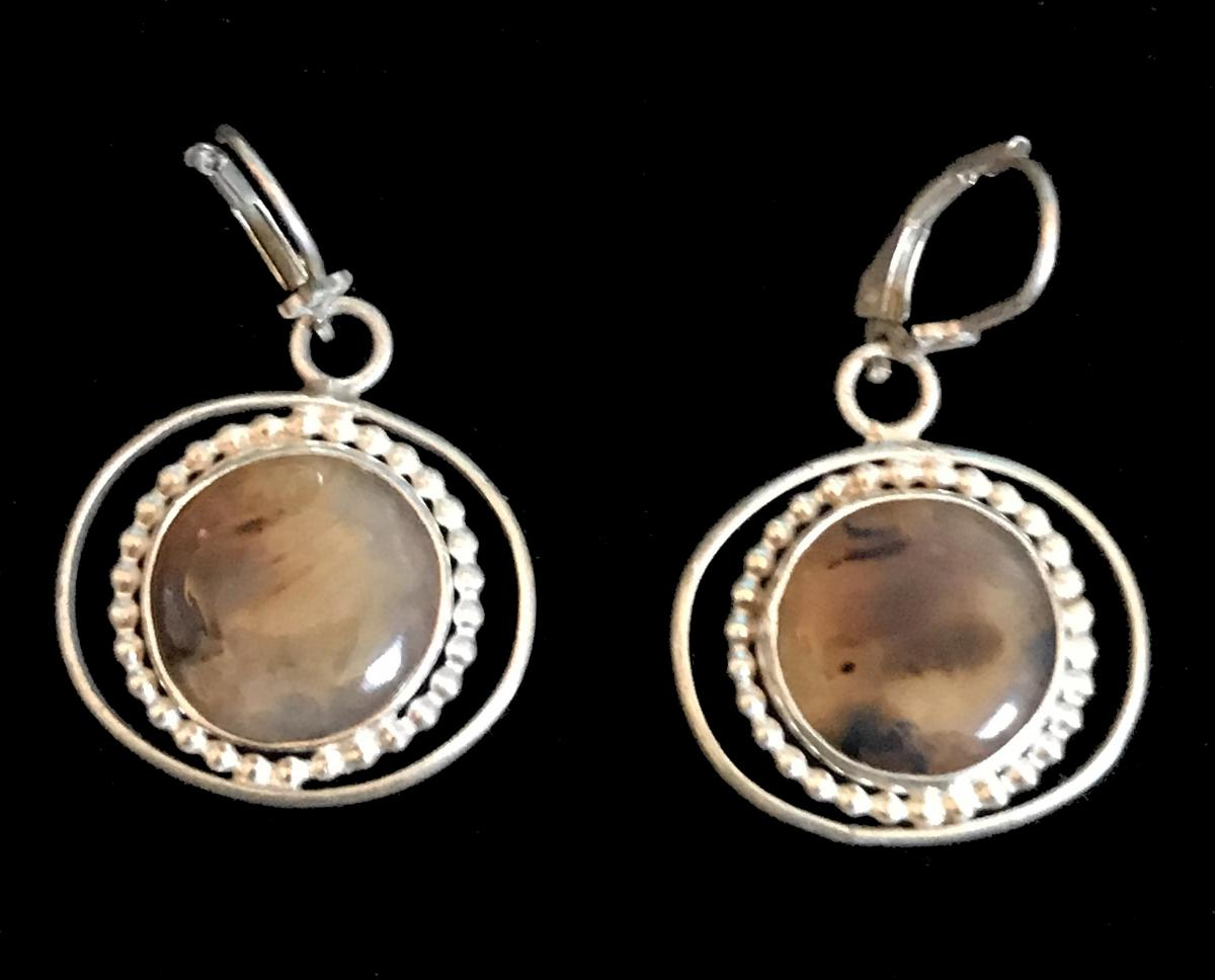 Montana Agate Earrings #1