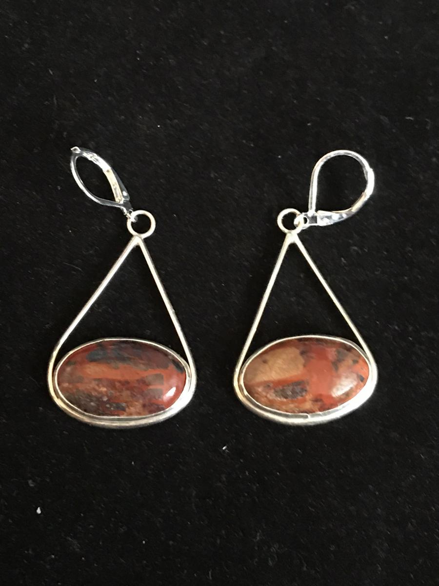 Mary Ellen Jasper Earrings #1