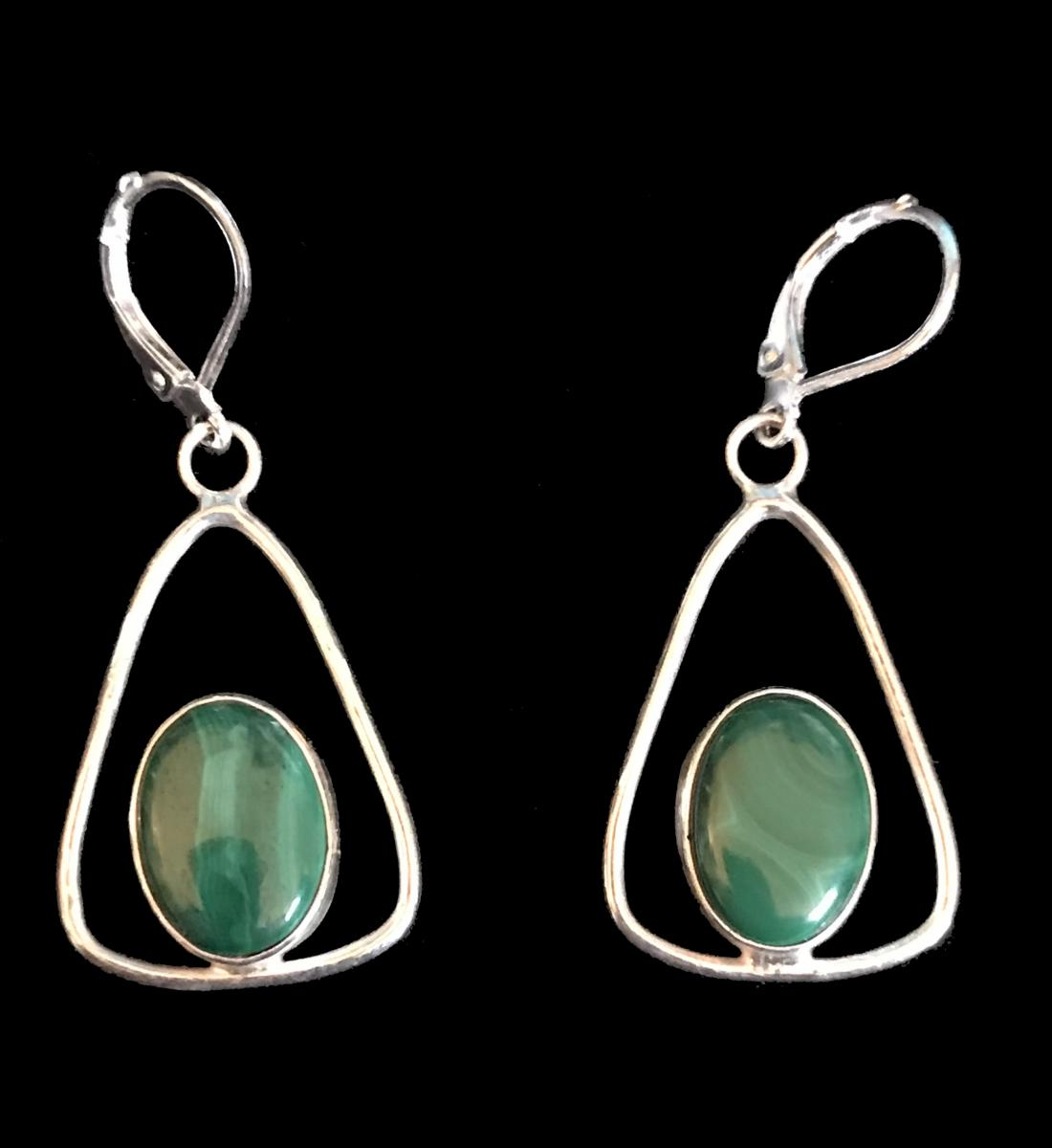 Malachite Earrings #1
