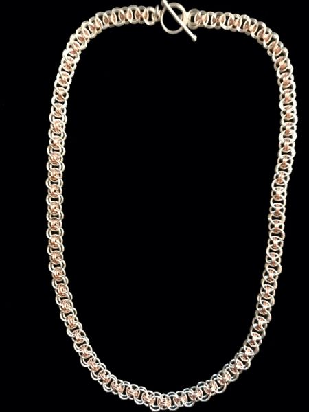 Helm Chain in Sterling Silver and Rose Gold