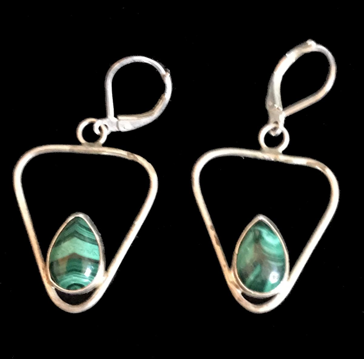 Malachite Earrings #2