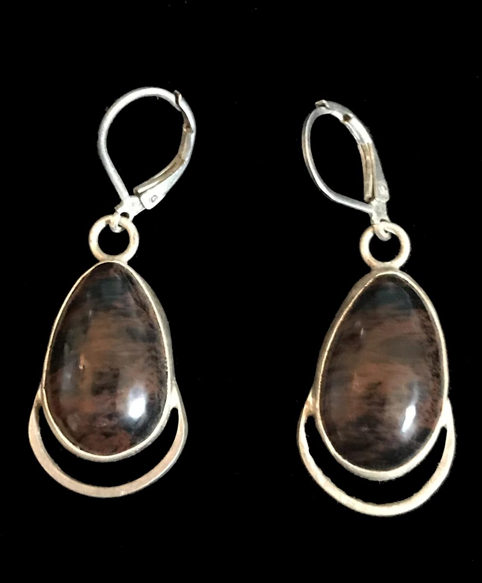 Mahogany Obsidian Earrings #1