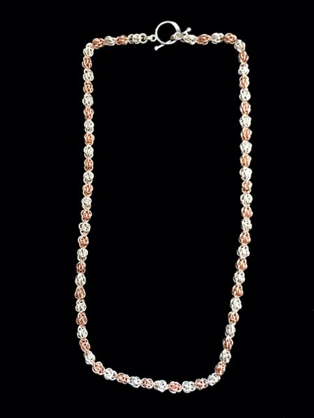 Sweet Pea Chain Sterling Silver and Rose Gold