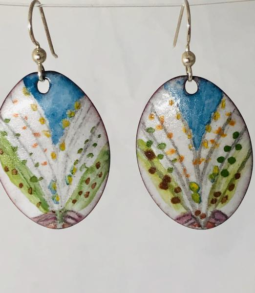 Colorful Glass Enamel Earrings