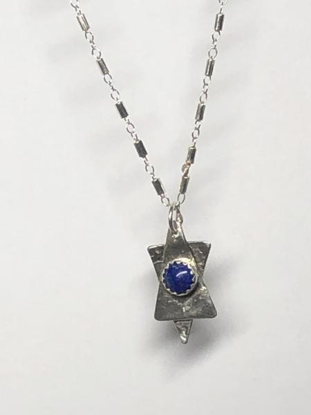 Star of David with Lapis Lazuli Necklace