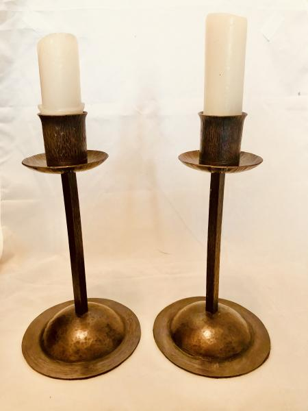 Dome-Bottomed Copper Candlesticks picture