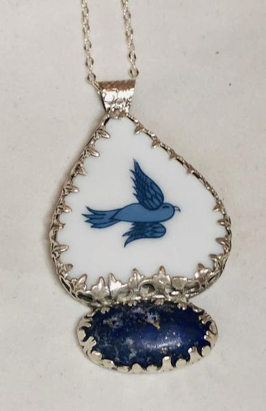 """Happy Little Bluebirds Fly"" Necklace picture"