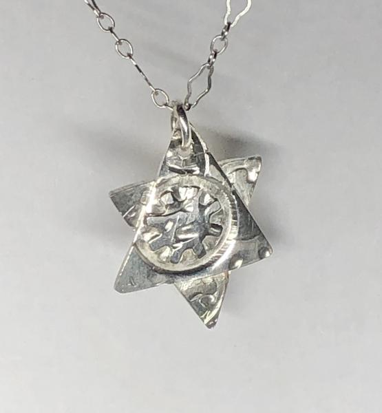 Star of David Sterling Necklace