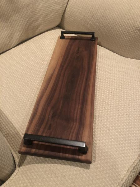 Wide Black Handled Cheese Board