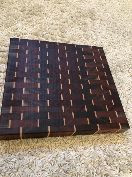 Dashes with Mahogany Cutting board