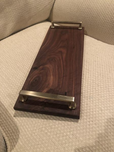Wide Gold Handled Cheese Board