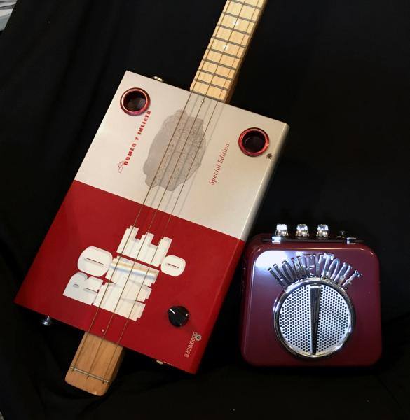 Cigar Box Guitar with Amp & Picks - Complete Set!