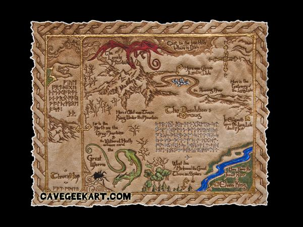 The Hobbit - Thror's Map picture