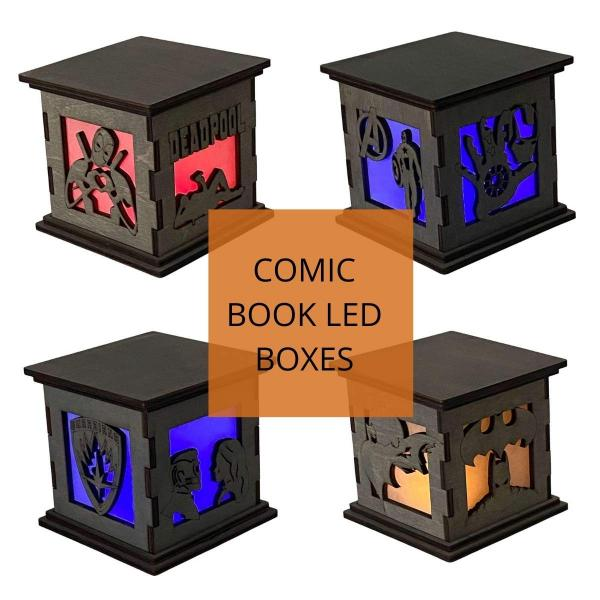 Comic Book LED Centerpieces