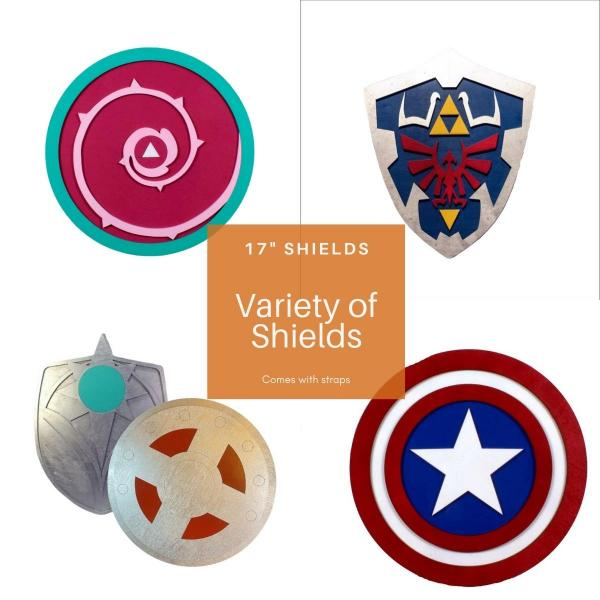 "17"" Wooden Shield Replicas"