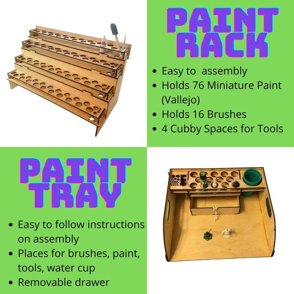 Paint Tray and Paint Rack