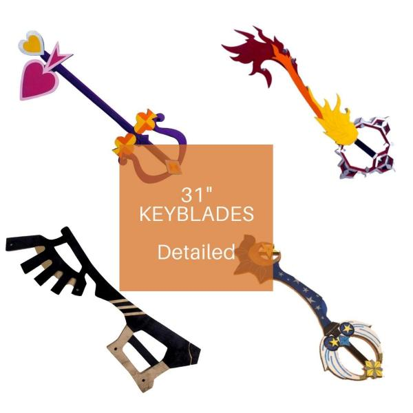 "31"" Wooden Intricate Keyblades"
