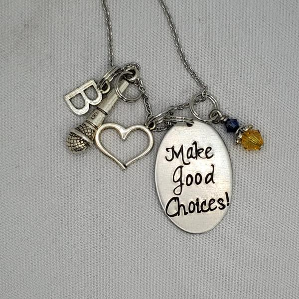 Make Good Choices - Pitch Perfect inspired Charm Necklace